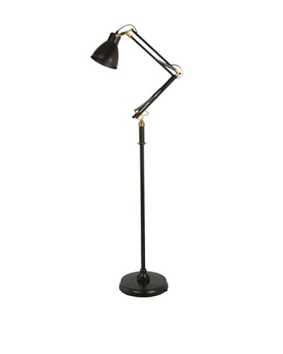 100 Essentials Vintage-Style Floor Lamp, Black