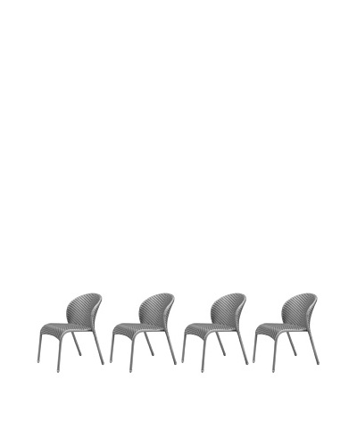 100 Essentials Set of 4 Flora All-Weather Dining Chairs, Jetson