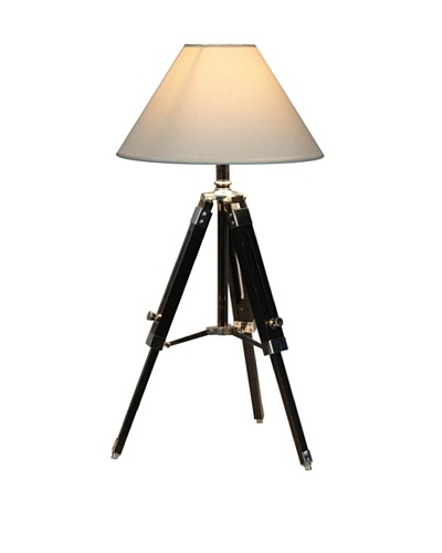 100 Essentials White Navy Tripod Table Lamp, White