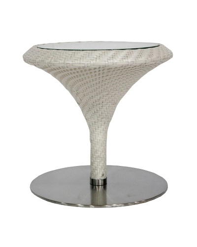 100 Essentials Party All-Weather Round  Table, Cream/Clay