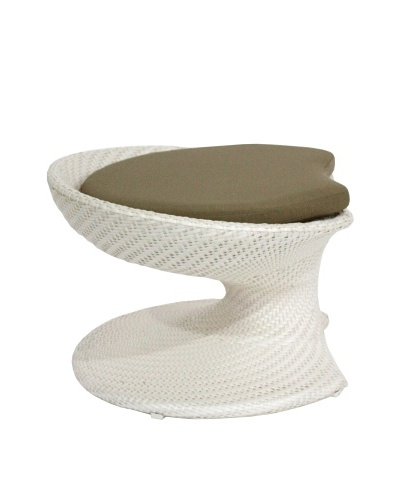 100 Essentials Party All-Weather Foot stool, Cream/Clay