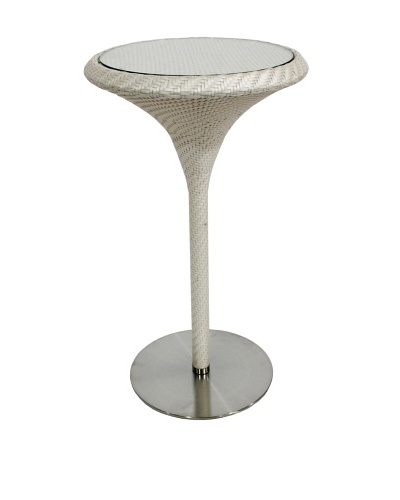 100 Essentials Party All-Weather bar Table, Cream