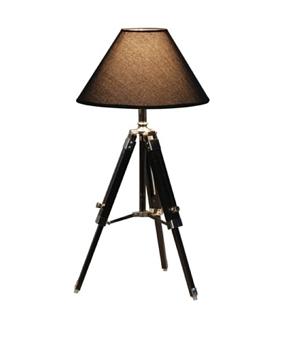 100 Essentials Black Navy Tripod Table Lamp, Black