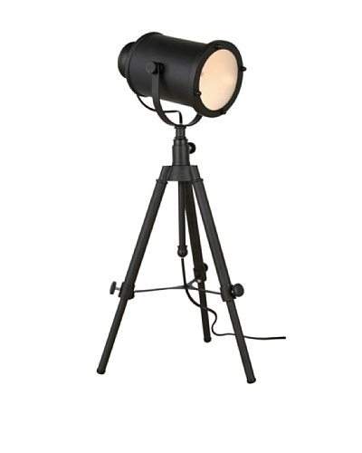 100 Essentials Projector Tripod Table Lamp, Black