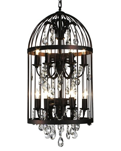 100 Essentials Bird Cage Chandelier, Black