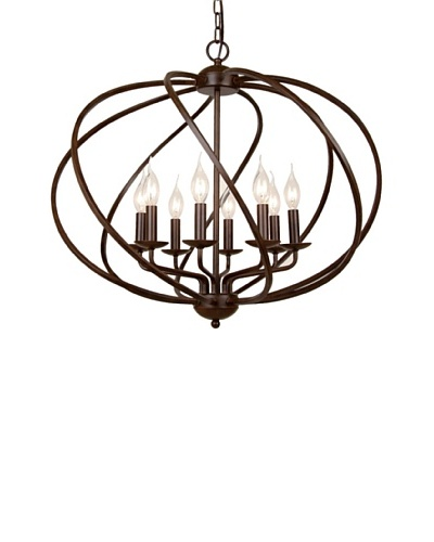 100 Essentials Metal Chandelier, Antique Black