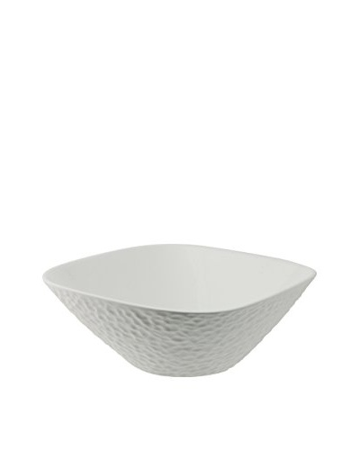 10 Strawberry Street Square Dimple Bowl, White