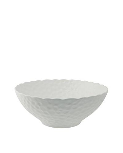10 Strawberry Street Round Dimple Bowl, White