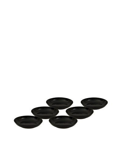 10 Strawberry Street Set of (6) 8 Black Coupe Soup Bowls