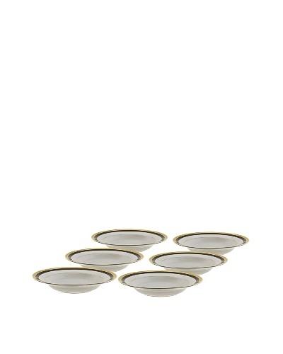 10 Strawberry Street Set of (6) 9 Sahara Black Soup Bowls