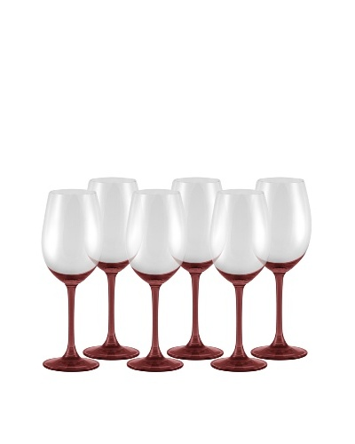 10 Strawberry Street Set of (6)  11.75-Oz. Love Wine Glasses