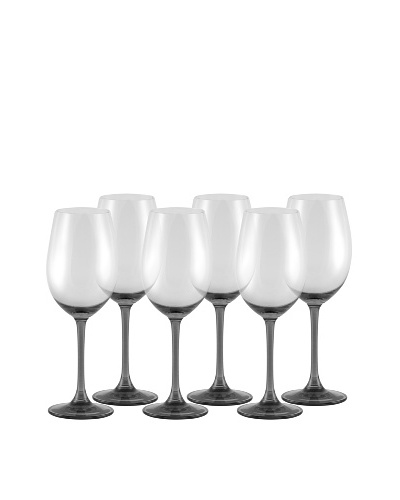 10 Strawberry Street Set of (6)  11.75-Oz. Love Wine Glasses