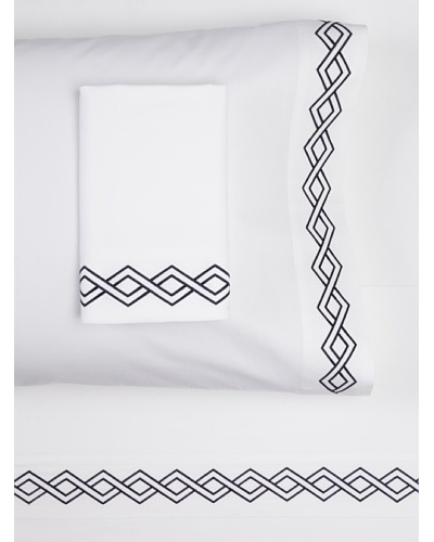 1891 by Sferra Nico Sheet Set [White/Navy]