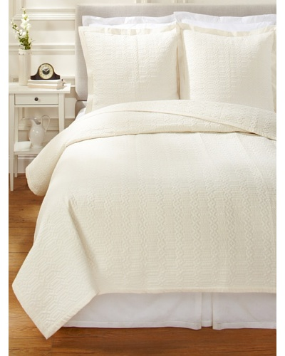 1891 by SFERRA Port O Call Quilt Set [Ivory]