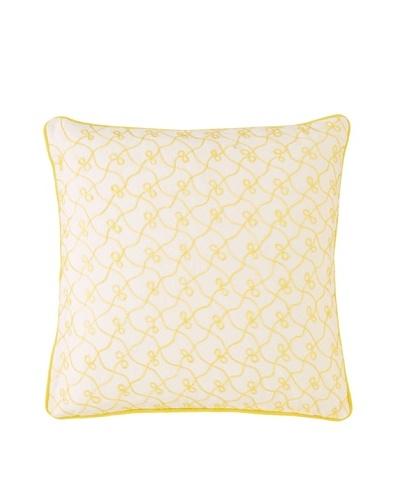 1891 by Sferra Eleanor Decorative Pillow [Yellow]