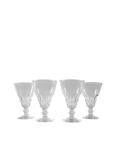 Set of 4 French Cocktail Glasses, Clear