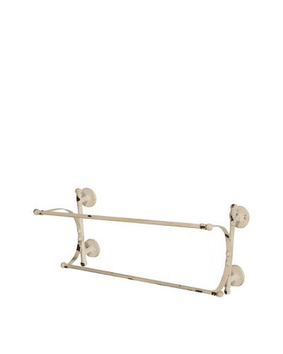 Wall Towel Rack, Antique Cream