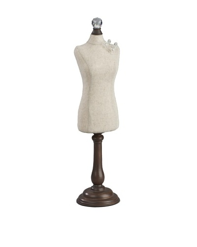 Natural Tabletop Pin & Earring Dress Form