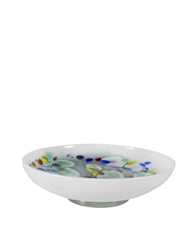 Mid-Century Art Glass Bowl, Multi