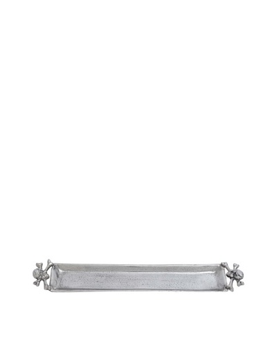 Skull and Crossbones Serving Tray, Silver