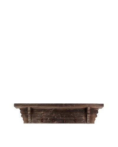 Rustic Wooden Kitchen Shelf