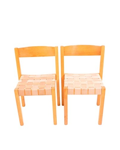 Set of 2 S-312 Series Balzar Beskow Chairs, Brown