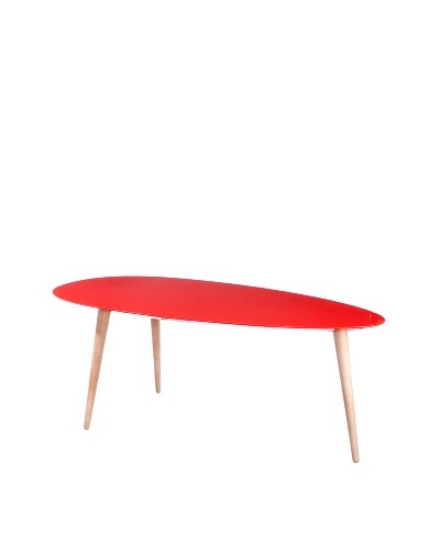 Large Egg Table, Red
