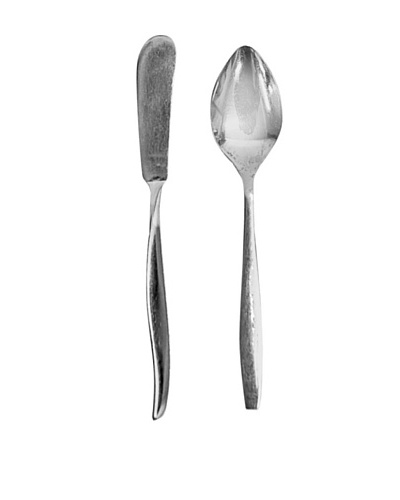 Vintage English Silver Butter & Sugar Serving Set, c.1940s
