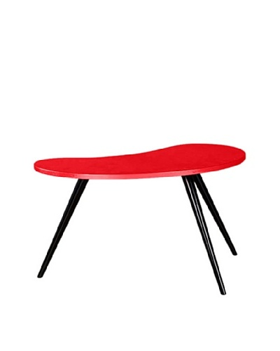 Large Curve Side Table, Red