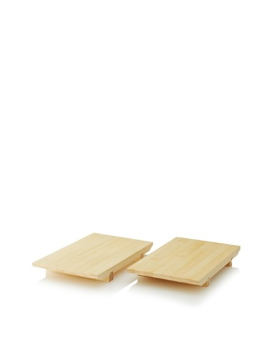 Set of 2 Bamboo Sushi Trays