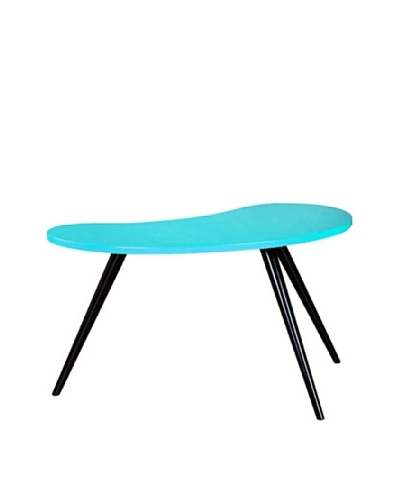 Large Curve Side Table, Turquoise