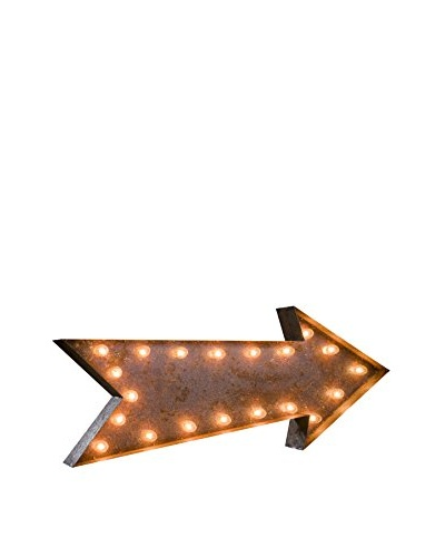 "36"" Vintage-Inspired Arrow Marquee Light"