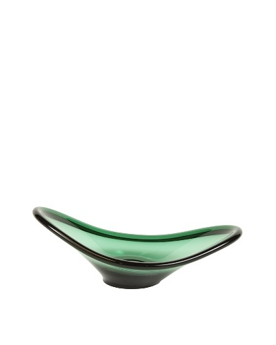 Art Glass Bowl, Green