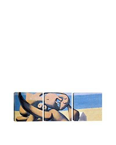 Pablo Picasso Figure (Panoramic) 3-Piece Canvas Print