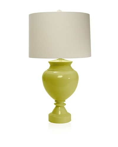 Aqua Vista Lighting Brompton Spun Bamboo Table Lamp, Endive
