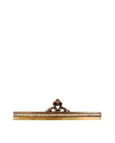 Brass Fireplace Grill, Gold