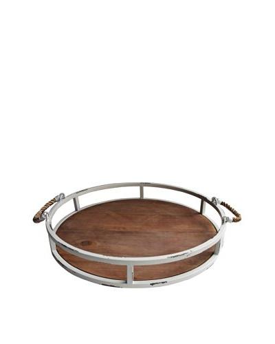 Nautical Round Distressed Tray