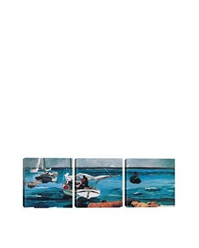 Winslow Homer Nassau (Panoramic) 3-Piece Canvas Print