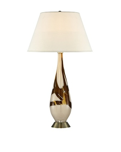 Cappuccino Marble Art Glass Table Lamp