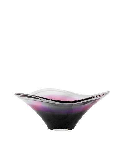 Art Glass Bowl, Purple/Pink/Clear