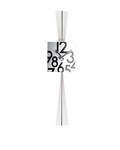 Stainless Steel Square Pendulum Wall Clock, 28.5""