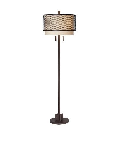 Industrial Double Shade Floor Lamp