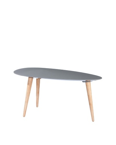 Small Egg Table, Light Grey
