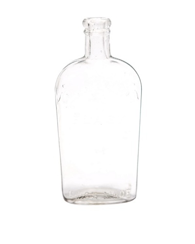 Vintage Circa 1950 Clear Warranted Star Engraved Glass Bottle