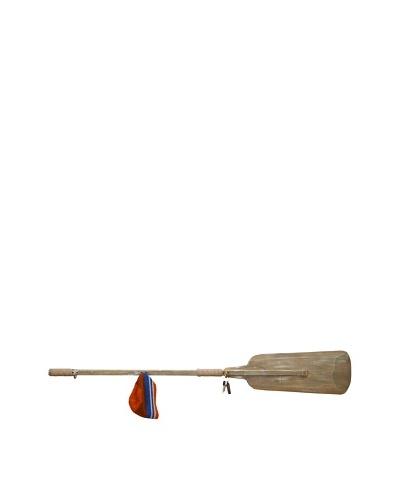 Wooden Oar with Hooks