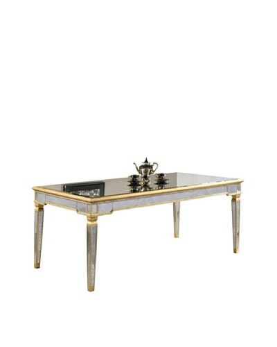 Florentine Dining Table, Gold Leaf/Antique Mirror