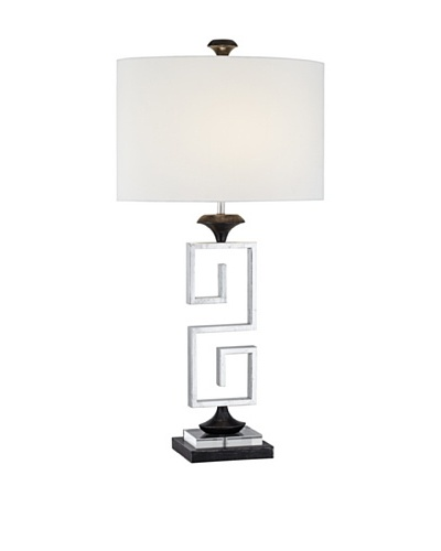 Silver Screen Table Lamp - Silver