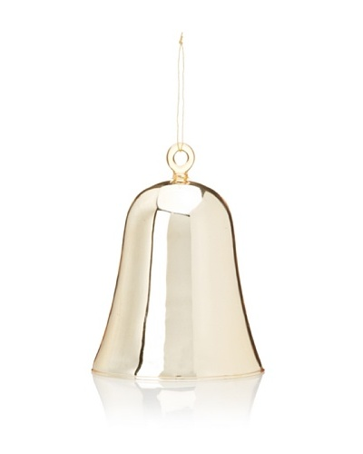 Gold Plated Glass Bell Ornament, Large