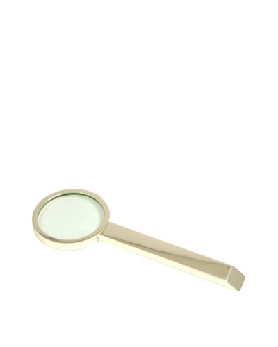 Silver-Plated Magnifying Glass