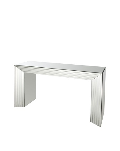 Mirror-Detailed Console, Silver/Gold